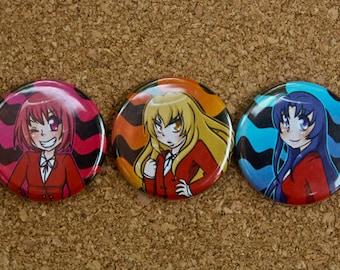 Toradora button set of 3