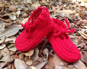 Christmas Red Baby Girl Shoes