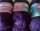 Bernat Softee Chuncky Acrylic 1 3/4 oz 6 Skeins Purple