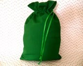 Drawstring bag Green with lining for travel or organizing at home-project bag-shoe bag