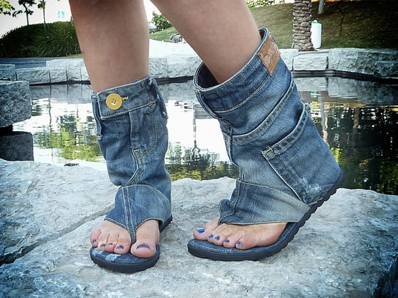 Jeans Sandals Boots Jeans Sandal Boots Handmade