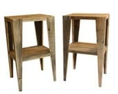 TWO Night Stands/End Tables Reclaimed Wood