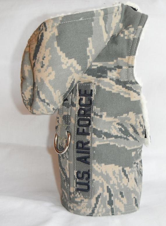 U.S. Air Force Dog Harness Fur Coat - Size XS ,  S, M