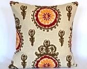Pillows throw pillow suzani pillow sofa pillow 18x18 inches cushion cover