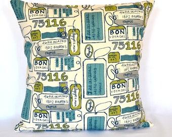 STORE CLOSING SALE Pillows Modern blue decorative pillow designer pillow kids pillow accent pillow 18x18 inches throw pillow christmas gift