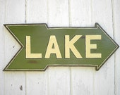 Wooden Lake Sign Rustic Lake House Cabin Cottage Wall Hanging Art  Decor