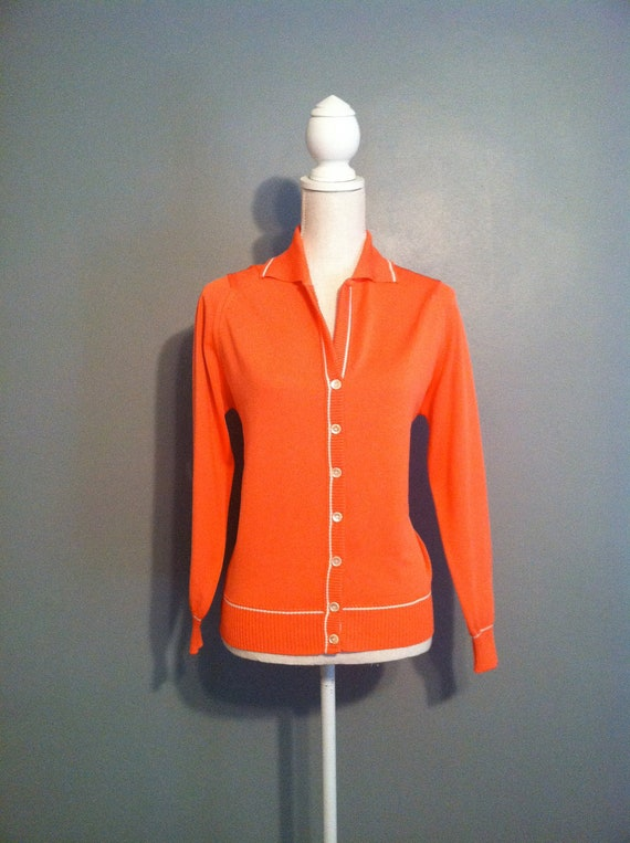 Vintage Givenchy Sport Cardigan / Medium / Button Up / Orange - Pink / Sweater