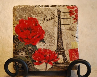 italy in spring World travelers Custom Made Ceramic Tile Coasters set of 4 or more