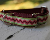 "Zigs & Zags - 3/4"" Martingale Collar"