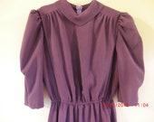 Modest Mennonite Style Cape Dress, Breastfeeding Discreet Nursing Dress
