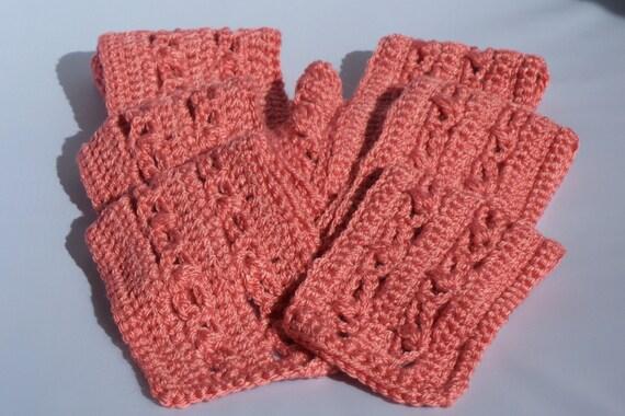 crochet scarf, coral, warm scarf