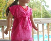 Super fun swim suit cover up for 18 inch dolls.
