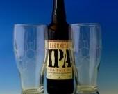 Beer lovers 19oz  pilsner glasses (set of 2)