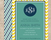DIY Bridal Shower Invitations- digital file