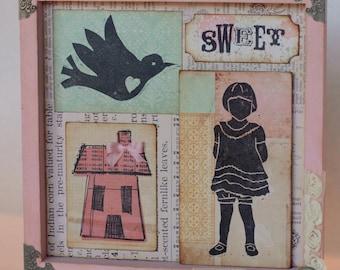SALE Sweet Home Shadowbox