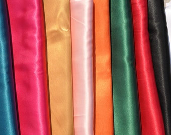Satin Sash in Different Colors for Dress