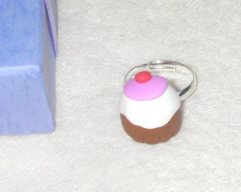 Cupcake Ring made from Polymer Clay