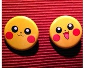 Pikachu Face Buttons (1 ONLY)