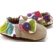 Fruit Punch Baby Sneakers, corduroy, pears, made to order sizes 0-18 mo.