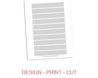 Address Wrap Label Sticker for Greeting Card Invitation Envelope 5x7 Party Template - DIY Address Wrapper Design Template