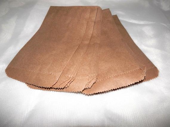 200 Mini Kraft 3 1/4 x 5 1/4 inches Flat Paper Bags, Cute Plain Kraft Goodie Paper Favor Bags, Small Kraft 3.25x5.25 Gift Bags