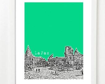 La Paz, Bolivia Poster - City Skyline Series Art Print - South America - VERSION 1