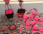 Zebra print and Hot Pink Theme Package Birthday/Bridal Shower/Baby shower/Wedding shower