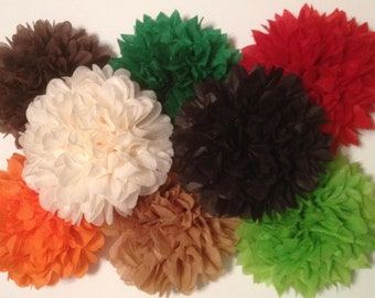 50 Tissue Paper Pom Poms - (You choose your colors) Wedding/Birthday/Baby Shower/Bridal Shower/Nursery
