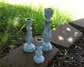 Wedding Deoration - Set of 3 Candle Holder Centerpieces -  Customized - Shabby Wedding Decor - Table Decoration - Wedding Decor