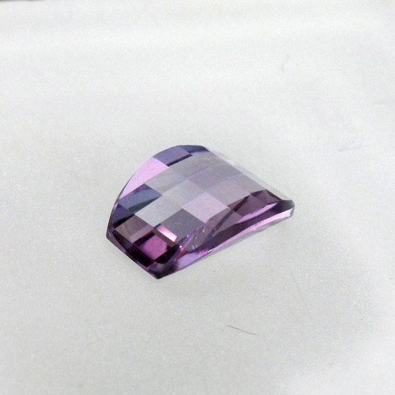 Amethyst Convex Barrel Fancy Cut - Natural Faceted Gemstone Birthstone: LSAmethyst14X10fancy