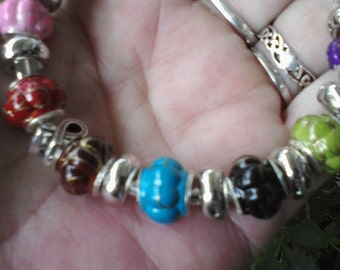 Autism awareness, Euro style bracelet