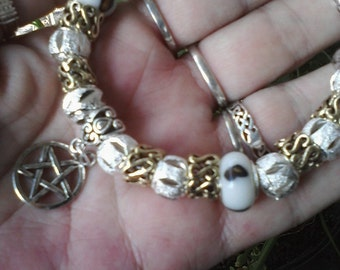 Pagan Wiccan Goddess and the God, Euro style bracelet