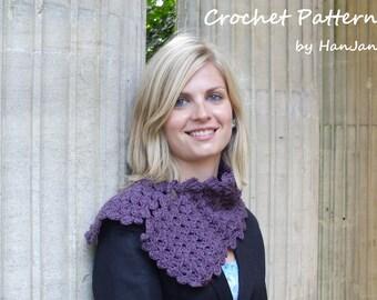 Purple Diamond Scarf - Instant Download PDF Crochet Pattern