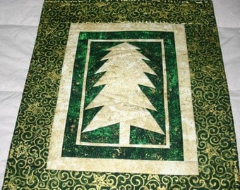 Forest Night Christmas Tree Wallhanging