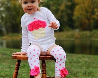Pink Lemonade 1st  birthday onesie cupcake