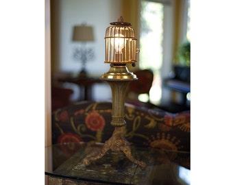 Beautiful Balanced Birdcage Table Lamp