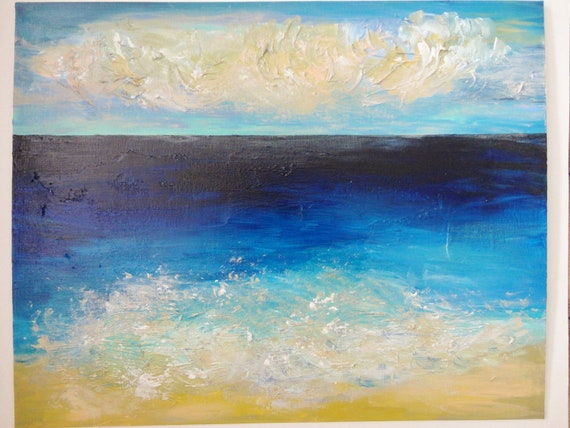 Items Similar To Sale Amazing Beach Acrylic Landscape