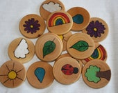 Wood Burned Memory Match Game