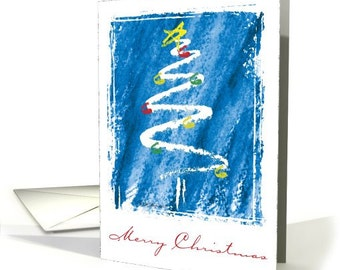Christmas Tree Sketch Christmas Card