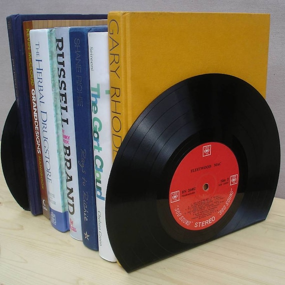 Rock N Roll Vintage Vinyl Lp Record Bookends Great Music Lover Home Decor Gift