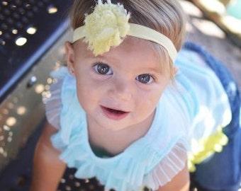 Yellow headbands.. Baby gills yellow headband.. Girls yellow headband