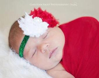 christmas headband..holiday headband..baby girl headband
