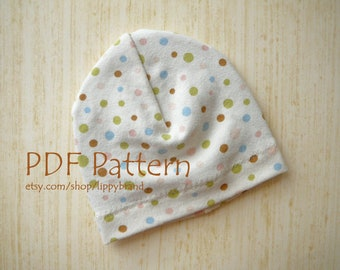 PDF PATTERN for Baby hat. Versatile beanie in three sizes.  -With permission to sell finished items-