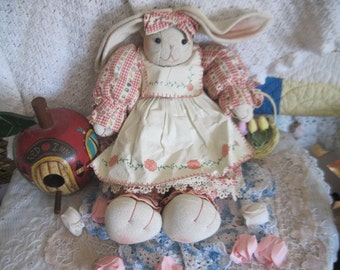 Bunny, Rabbit, Spring Decorations, Sweet Bunny Rabbit Spring Tulips in her Basket DARLING :)
