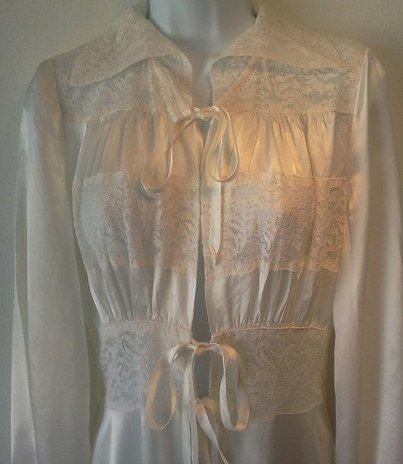 Vintage Lingerie Robe Bridal 1940s A Marfay Original