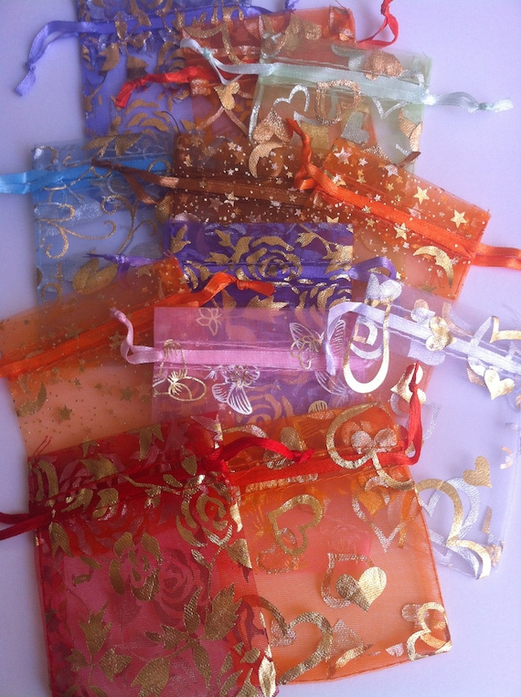 12- Organza Bags in Multie Colors- 3x2