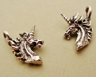 unicorn charms tiny sterling silver charms C101-2