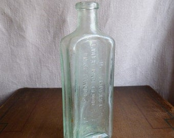 Antique Vintage Medicine Apothecary Bottle - Dr. Thatcher's Liver and Blood Syrup -Chattanooga Tenn