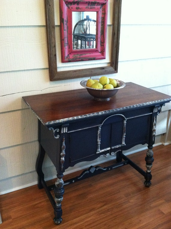 Buffet or Server  - Navy, Distressed Furniture, Stained, Painted Furniture, Dresser