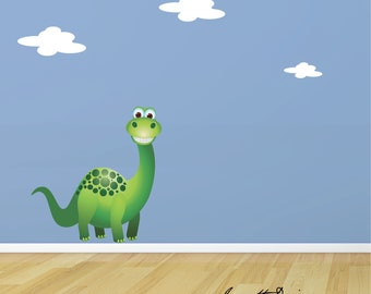 Dinosaur Wall Decal, Removable and Repositionable fabric Wall Sticker for Kids rooms,Green Dinosaur Wall Decal